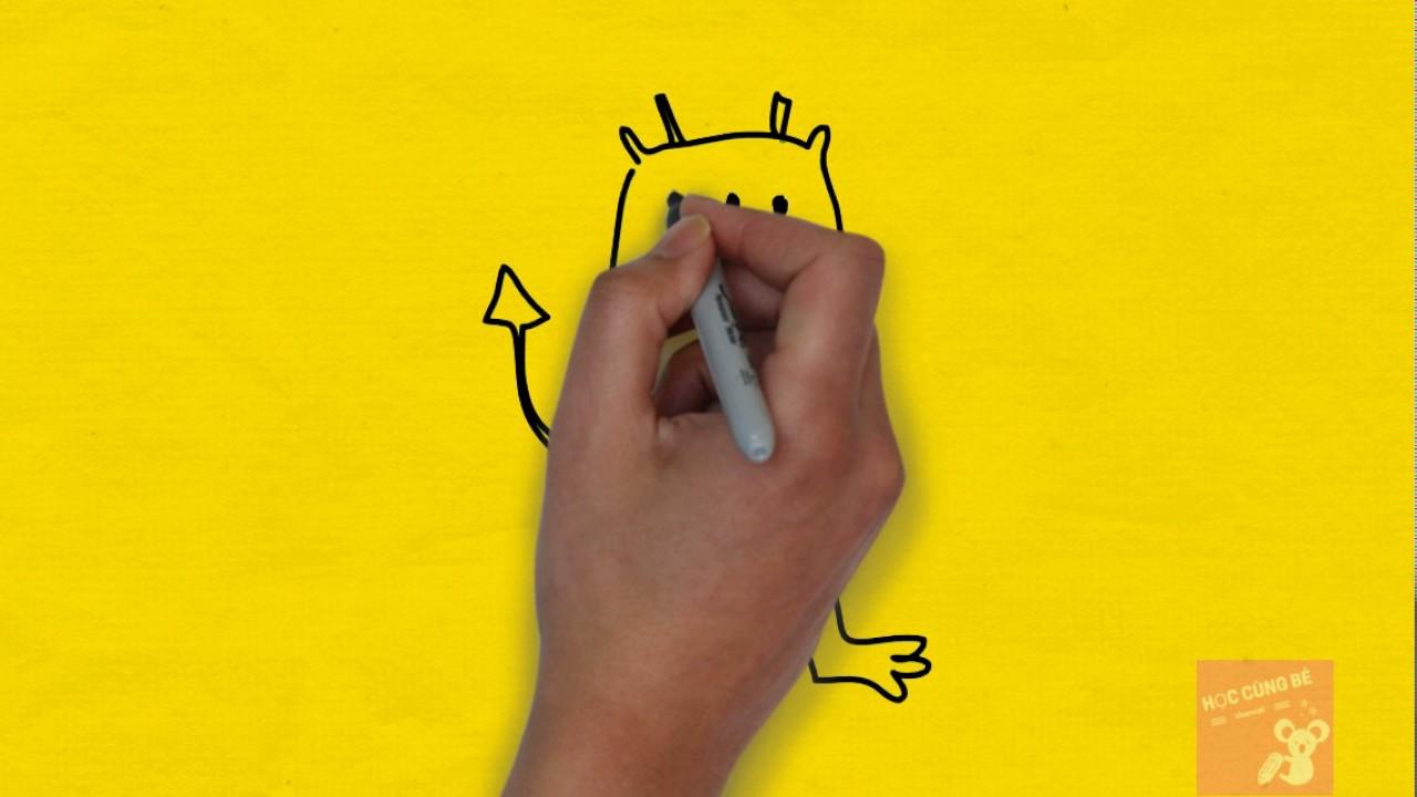 bé tập vẽ con ếch – bé tập vẽ