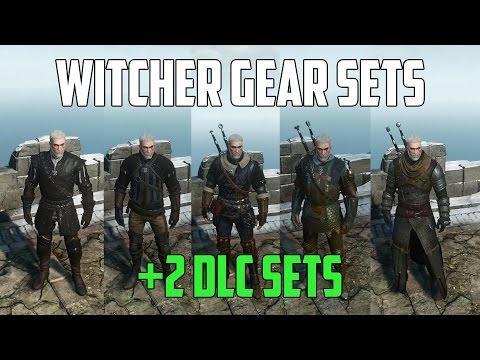 ALL WITCHER GEAR SETS + 2 DLC SETS Showcase | Stats And Looks | Witcher 3: Wild Hunt