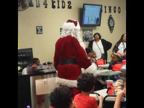 Santa Albert at Daub For Kids Bingo.