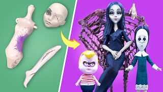 Never Too Old for Dolls! 10 Addams Family Barbie and LOL DIYs