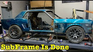 My 1966 Ford Mustang coyote swap Custom Subframe Is Built!
