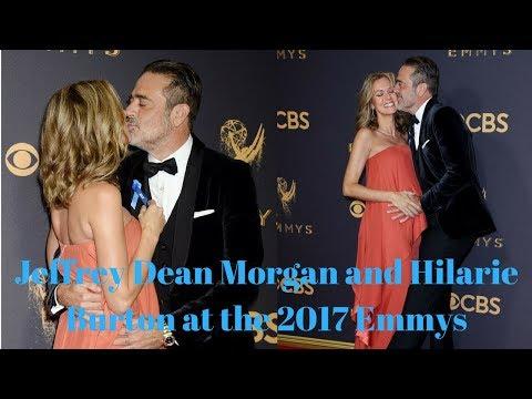 Jeffrey Dean Morgan and Hilarie Burton at the 2017 Emmys