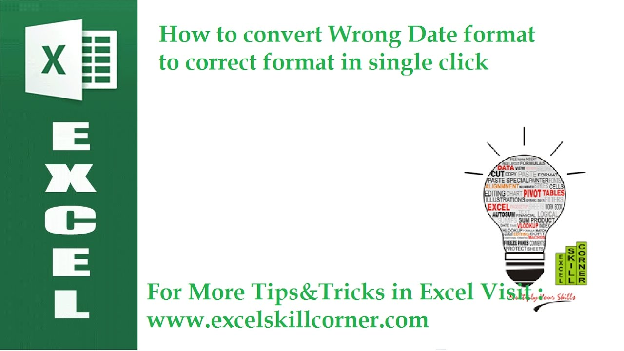 How to convert wrong date format to correct format in single click how to convert wrong date format to correct format in single click youtube ccuart Image collections