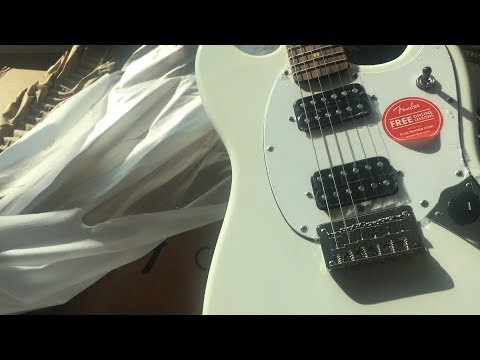 Unboxing Squier Mustang by Fender Shipped From Musicians Friend FSR White Mustang
