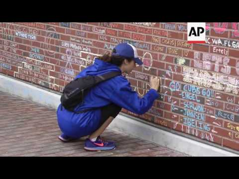 Cubs Fans Spell Out Love for Team in Chalk