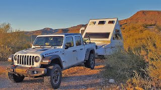 A Day in the Life of a FULL TIME TRUCK CAMPER - Desert Edition