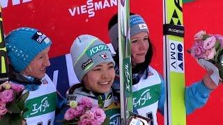 ❅ 2016.1.17  FIS  Ski Jumping World Cup Ladies Victory Ceremony  2016 スキージャンプ女子 表彰式