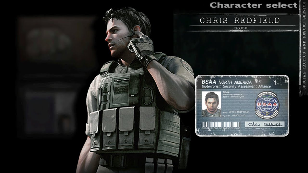 Chris Redfield Bsaa Outfit Re5 Skin Resident Evil Hd Remaster