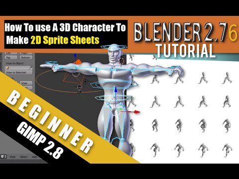 How To Use A 3D Character To Make 2D Sprite Sheets In Blender 2.76b