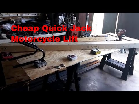 DIY / How to make a cheap Quick Jack motorcycle lift platform (part 1).