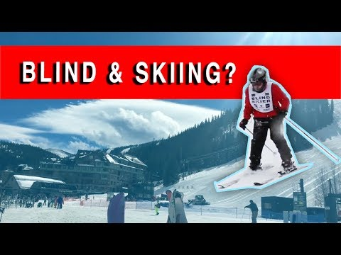 Skiing and BLIND! | Winter Action Sports