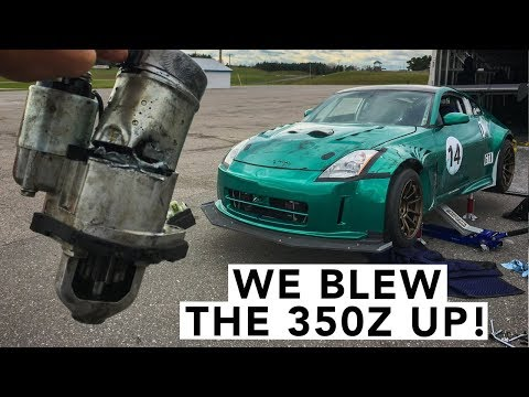 9,000RPM 350Z Track Day Doesn't End Well
