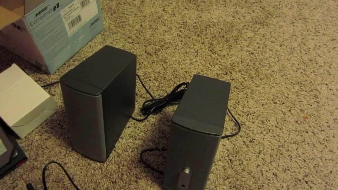 Bose Companion 2 Series II multimedia PC computer speakers ...