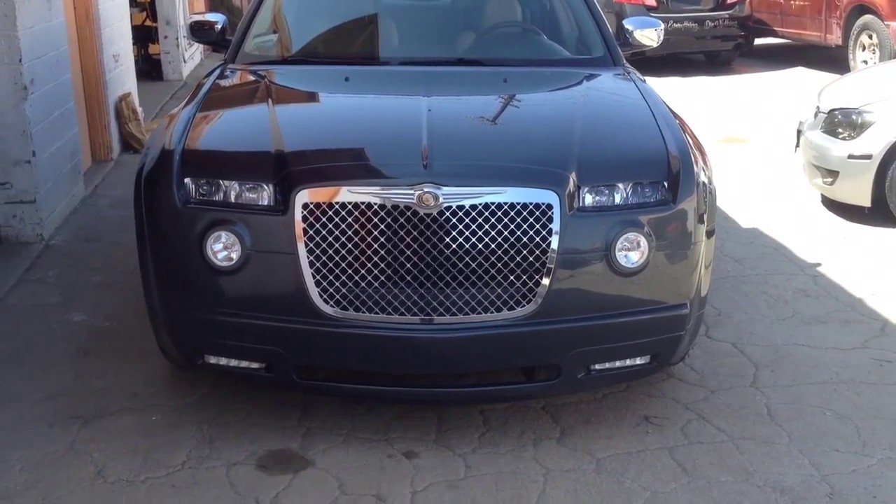 chrome grill 2008 chrysler 300 custom bodykit youtube. Black Bedroom Furniture Sets. Home Design Ideas