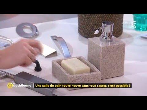 une salle de bain toute neuve sans tout casser c 39 est possible youtube. Black Bedroom Furniture Sets. Home Design Ideas
