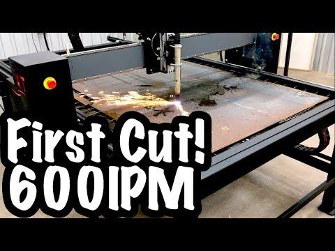 First Cuts at 600IPM!! - 85amp Tip - 16 Gauge - New Trucutcnc CNC Plasma Table