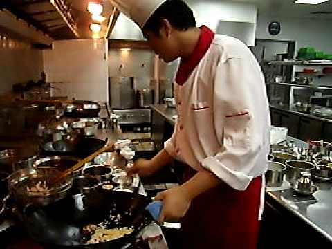 Fried rice by a professional chinese wok chef
