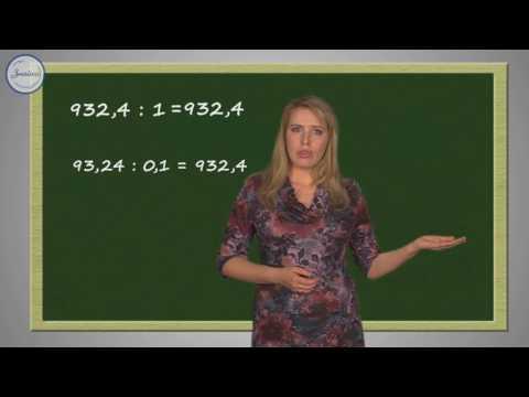 Видеоурок по математике 5 класс деление на десятичную дробь 5 класс