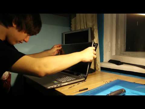 Laptop Screen Replacement / How To Replace Laptop Screen On Asus N750