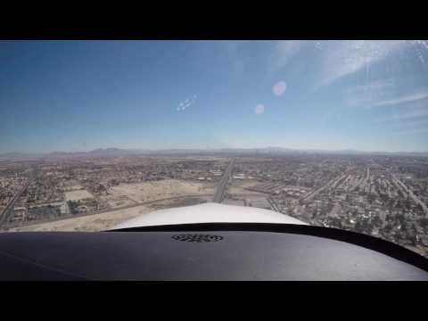 Landing at North Las Vegas Airport, KVGT