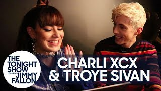 Troye Sivan and Charli XCX Practice Their Telepathy While Naming Puppies thumbnail