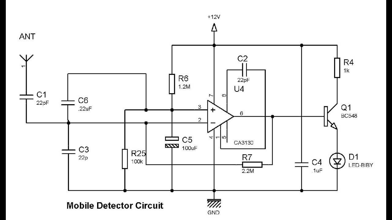 cellular phone tower signal diagram 4l80e transmission wiring simple mobile detector using ca3130 youtube