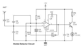 simple mobile detector using  CA3130