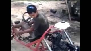 Test drive GOKART buatan papa