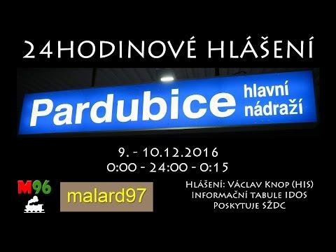 24H HLÁŠENÍ: Pardubice Hlavní Nádraží (HIS) - 9./10.12.2016