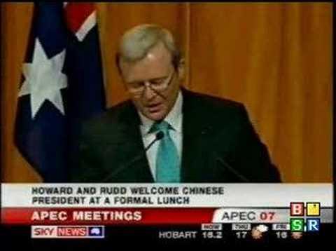 Prime Minister Kevin Rudd Speaking Mandarin