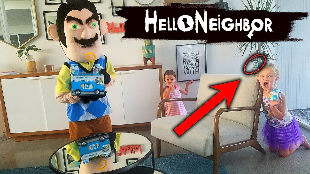 Switch It Up Toys : Hello neighbor in real life switch up lost kitties toy