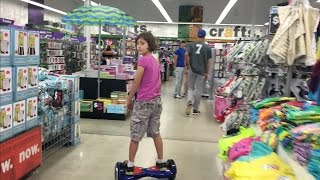 8 YEAR OLD HOVERBOARD SHOPPING AT FIVE BELOW!