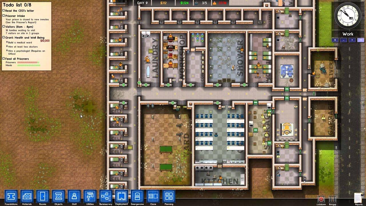 Tutorial prison architect alpha 10 deutsch german for Jail architect