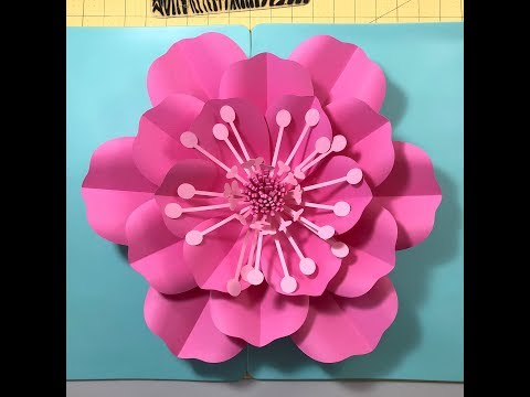 DIY Easy Paper Flower Template 5 and Center Tutorial