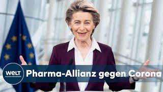 Kurz vor dem video-gipfel der eu-kommissionspräsidentin ursula von leyen mit den ceos impfstoff-firmen am sonntagabend erhöht manfred weber, vorsitze...