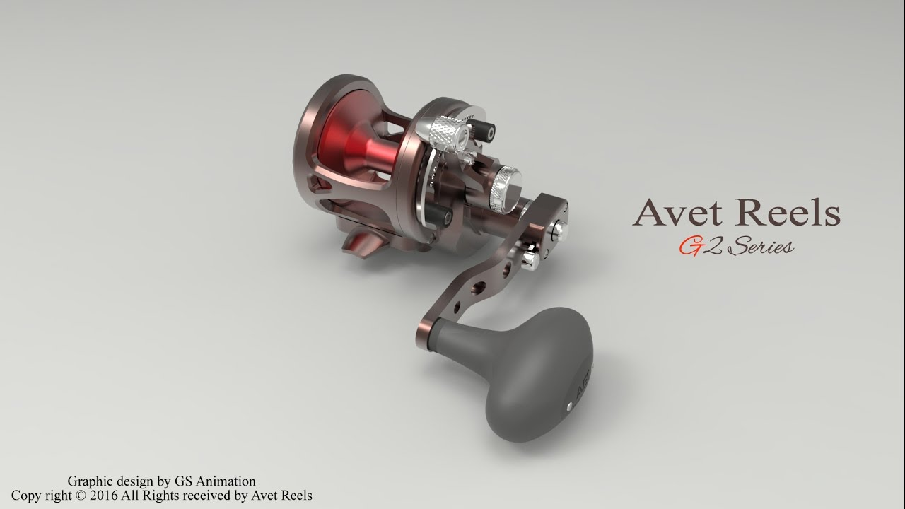 Avet Reels G2 Series Neptunes Heart Color
