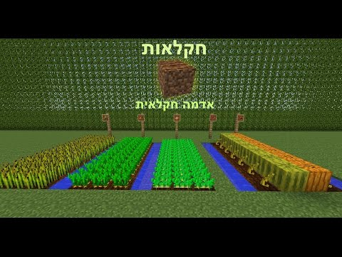 מיינקראפט חקלאות: אדמת חקלאות -- minecraft farming: farming land