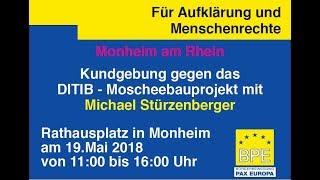 Kundgebung in Monheim - 19.05.2018 Bürgerbewegung Pax Europa