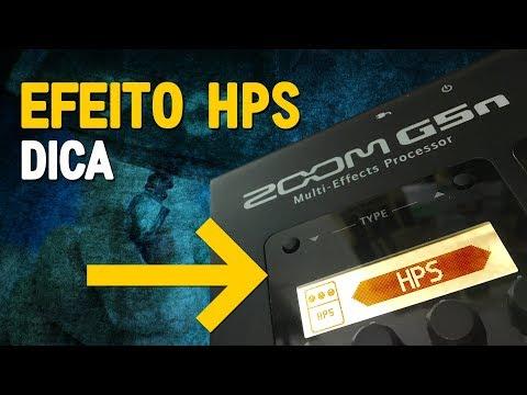 Dica para o efeito HPS (harmonizer pitch shifter) da Zoom G5n
