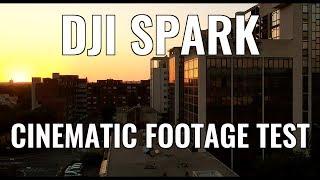 DJI SPARK Cinematic Footage Test : Daylight/Strong Wind/Sunset Light