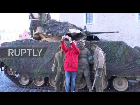 Estonia: NATO combat vehicles lead parade for Estonian Independence Day