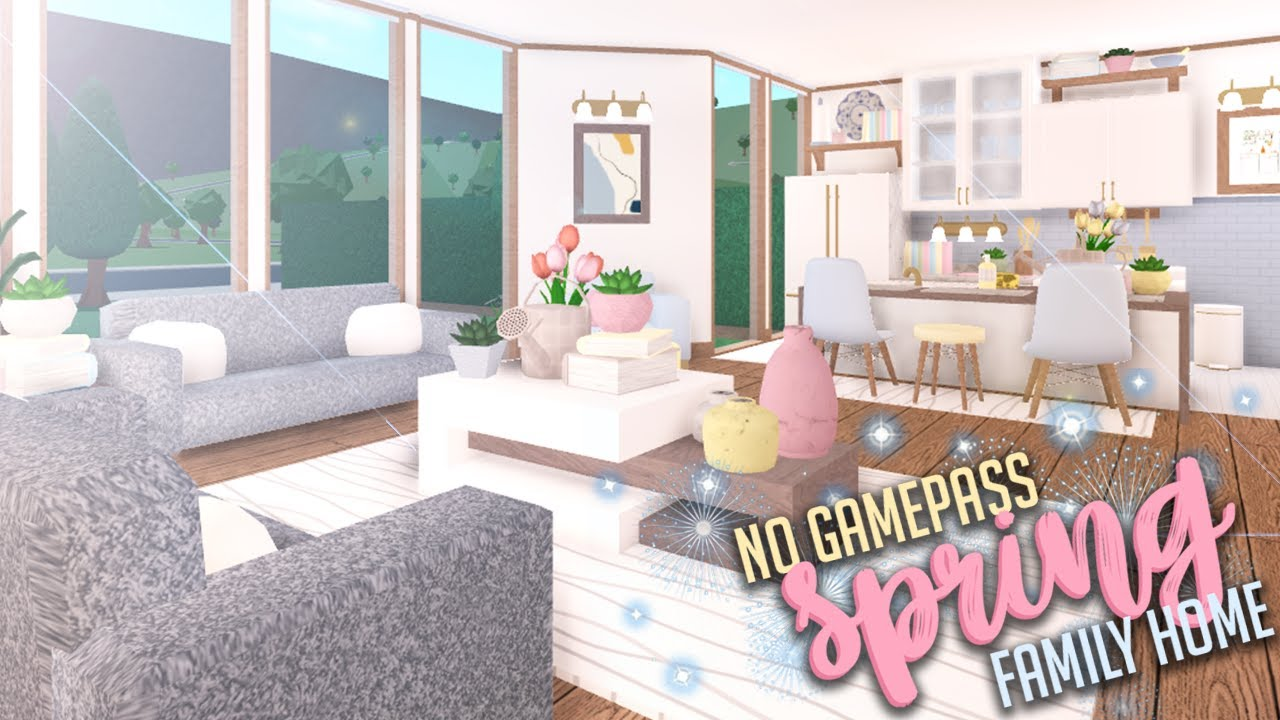 Spring Family Home No Gamepasses Welcome To Bloxburg Youtube