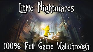 Little Nightmares - 100% Full Game Walkthrough - All Collectibles (Statues & Nomes)