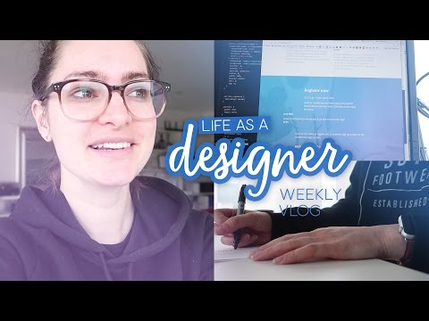 Learning to code a conference site! | Life as a Designer - Weekly vlog