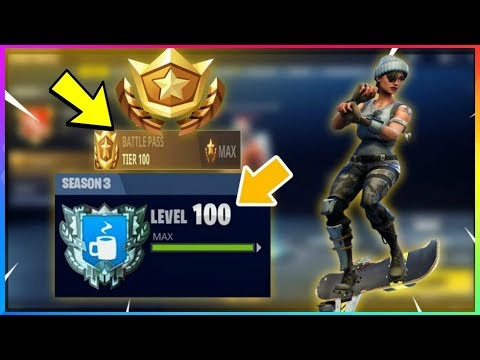 how to unlock all 100 tiers secret item fastest fortnite season 3 battle pass hover board - what can you unlock in fortnite