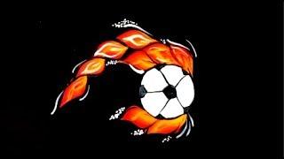 Аквагрим футбольный мяч, аквагрим для мальчиков, аквагрим обучение, аквагрим урок