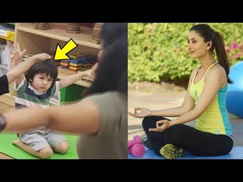 Aw ! Taimur Ali Khan looks so cute copying mom Kareena Kapoo and doing yoga Mp3