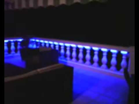 terrasse avec balustrade quip e d eclairage indirect a leds programmables youtube. Black Bedroom Furniture Sets. Home Design Ideas