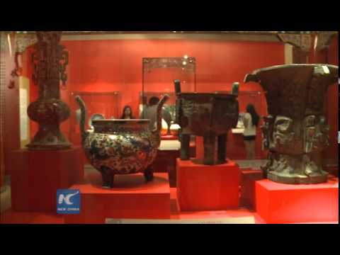 RAW:Replicas of Chinese antique add glamor to national museum of Mexico