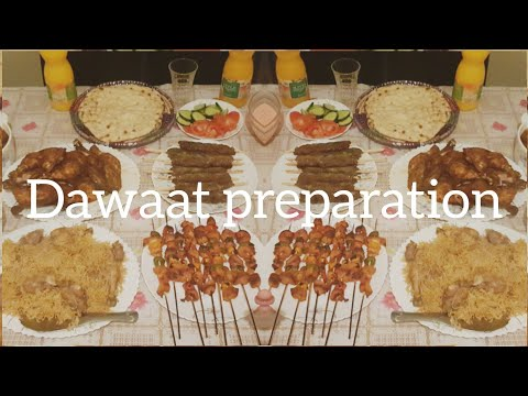 Dawat Preparation Tips 8 To 10 People. 9 Dishes With Full Recipes.After Dinner Tea Time.